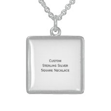Create Custom Pure Sterling Silver Photo Necklace