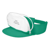 Create Custom Retro Nylon Cap Visor Zipper Pocket
