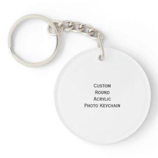 Create Custom Round Acrylic Photo Keychain Keyring