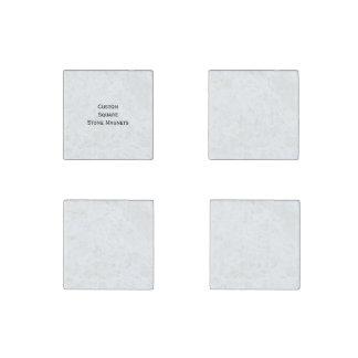 Create Custom Set of 4 Square Stone Fridge Magnets