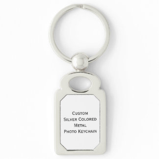 Create Custom Silver Colored Metal Photo Keychain