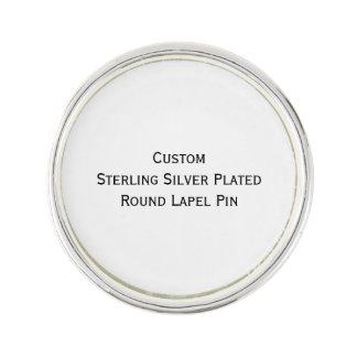 Create Custom Silver Plated Round Photo Lapel Pin