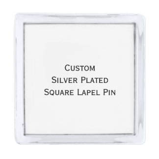 Create Custom Silver Plated Square Photo Lapel Pin
