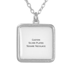 Create Custom Silver Plated Square Photo Necklace at Zazzle