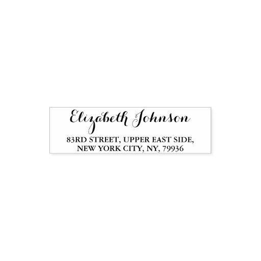 Create Custom Simple Elegant Name Return Address Self-inking Stamp