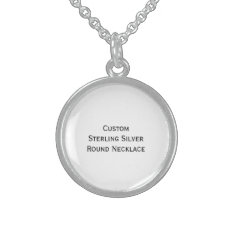 Create Custom Sterling Silver Round Photo Necklace at Zazzle