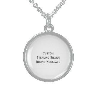 Create Custom Sterling Silver Round Photo Necklace