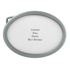 Create Custom Stylish Cool Oval Photo Belt Buckle