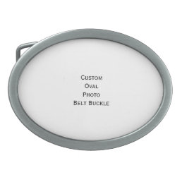 Create Custom Stylish Cool Oval Photo Belt Buckle