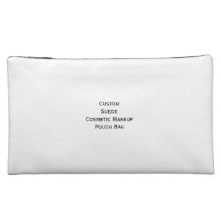 Create Custom Suede Cosmetics Makeup Zip Pouch Bag at Zazzle