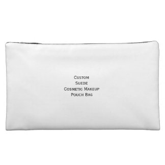 Create Custom Suede Cosmetics Makeup Zip Pouch Bag