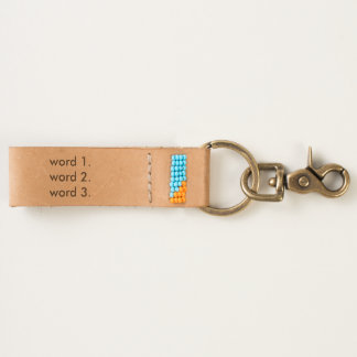 Create custom text simple three words expression keychain