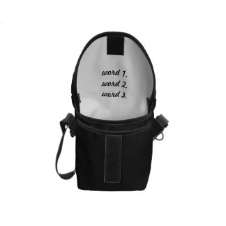 Create custom text simple three words expression messenger bag