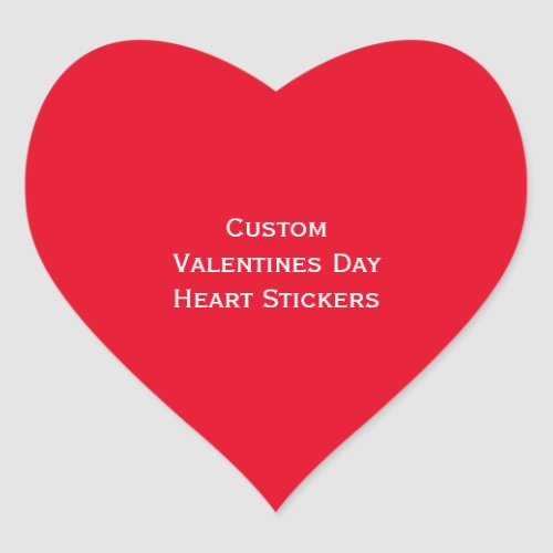 Create Custom Valentines Day Heart Photo Stickers