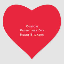 Create Custom Valentines Day Heart Photo Stickers