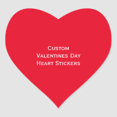 Create Custom Valentines Day Heart Photo Stickers at Zazzle