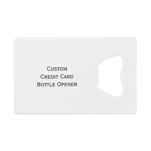 create custom wallet credit card bottle opener zazzle. Black Bedroom Furniture Sets. Home Design Ideas