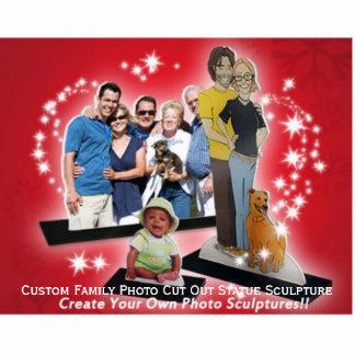 Create Custom Wedding Family Photo Cut Out Statue