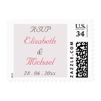 Create Custom Wedding RSVP Postcard Postage Stamp