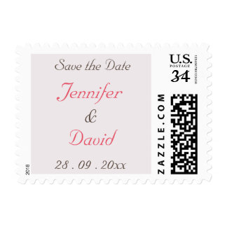 Create Custom Wedding Save the Date Postage Stamp