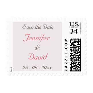 Create Custom Wedding Save the Date Postage Stamp