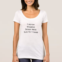 Create Custom Womens Scoop Neck Slim Fit T-Shirt