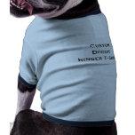 Create Doggie Custom Medium Cotton Ringer T-Shirt Pet T Shirt