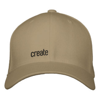 create embroidered baseball cap