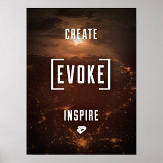 CREATE. EVOKE. INSPIRE. Poster
