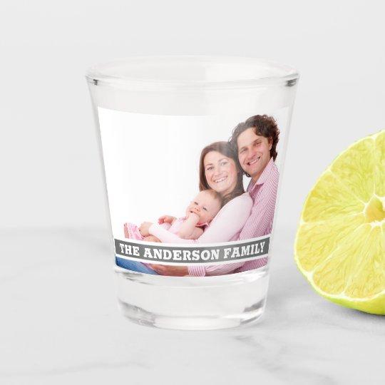 Create Family Photo Monogram Shot Glass