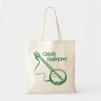 CREATE HARMONY, BANJO TOTE BAG