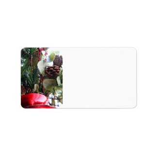 Create Holiday Card Envelope Mailing Label Sticker