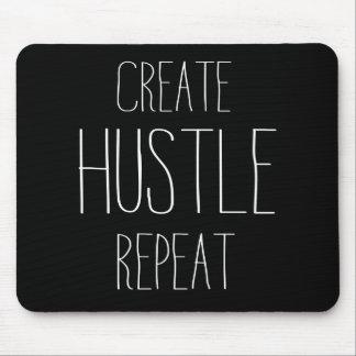 Create Hustle Repeat Mouse Pad
