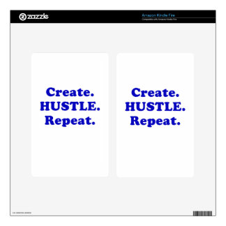 Create Hustle Repeat Skins For Kindle Fire