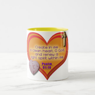Create in Me a Clean Heart Christian Mug