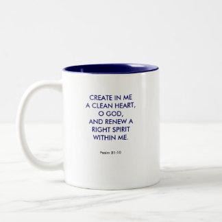 CREATE IN ME Two-Tone COFFEE MUG
