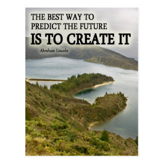 Create It Quote on Photograph Postcard