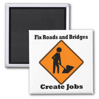 Create Jobs 2 Inch Square Magnet