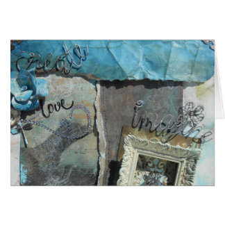 Create, Love, Image Mixed Media Greeting Cards