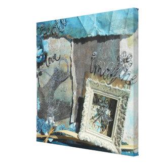 Create, Love, Imagine Mixed Media Wrapped Canvas Canvas Print