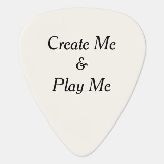 Create Me and Play Me Personalized Plectrum