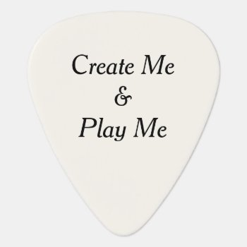 Create Me And Play Me Personalized Plectrum Guitar Pick by DigitalDreambuilder at Zazzle