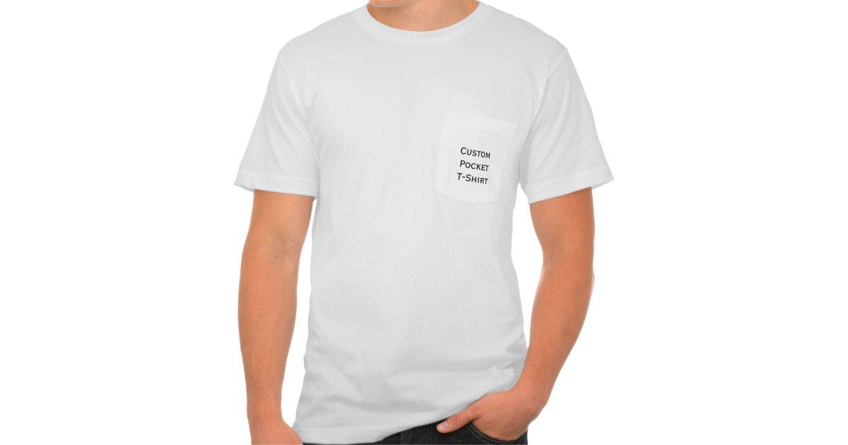 Create mens custom american apparel pocket t shirt zazzle for Custom t shirt with pocket