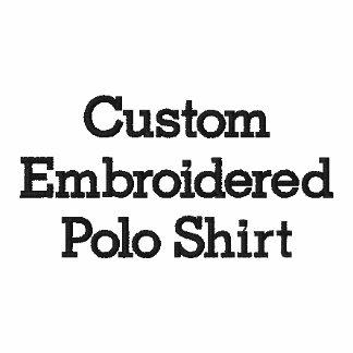 Create Mens Custom Embroidered Polo Shirt