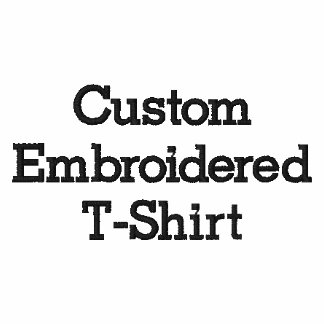Create Mens Custom Embroidered T-Shirt
