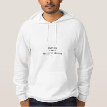 Create Mens Custom Fleece Pullover Hoodie
