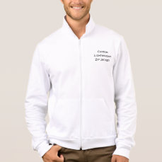 Create Mens Custom Lightweight Zip Jacket