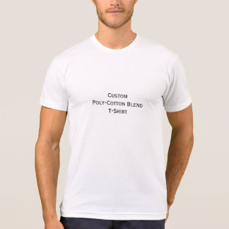 Create Mens Custom Poly-Cotton Blend Fitted TShirt