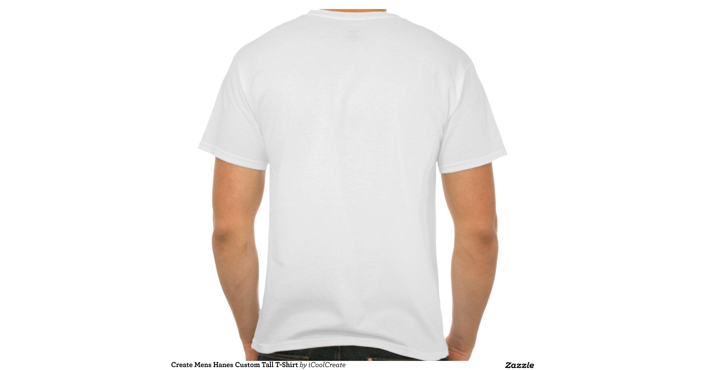 create mens hanes custom tall t shirt