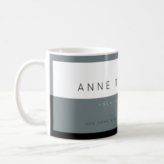 create modern gray&white custom profession coffee mug